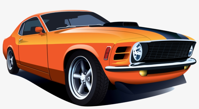 Muscle Cars Png Classic Muscle Car Vector Free Transparent Png