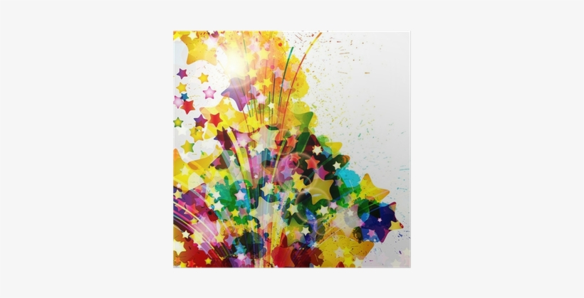 Abstract Background Forming By Watercolor Paint Splashes - Watercolor Painting, transparent png #775793