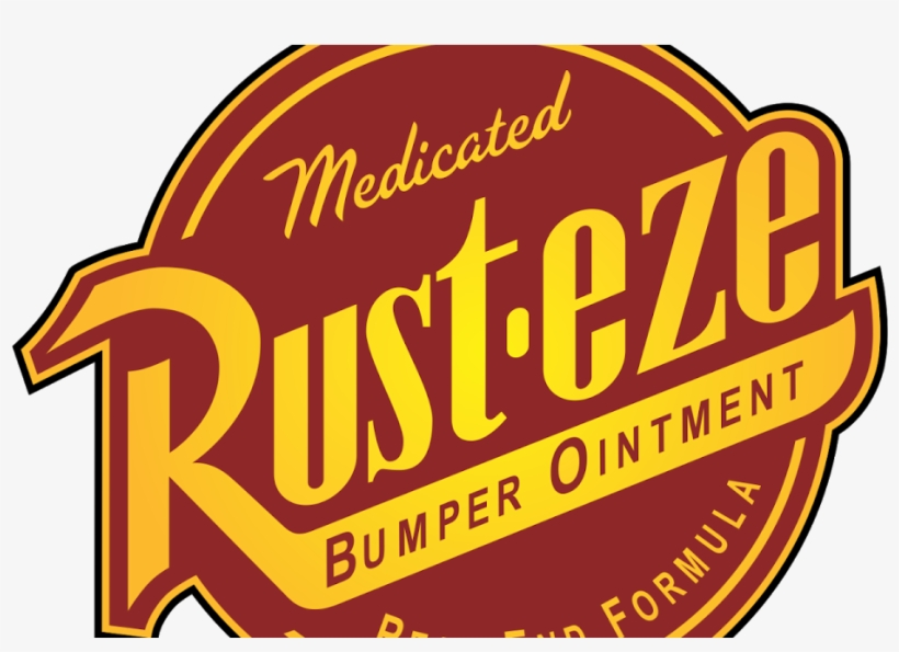 "Rust Eze Auto Logo Car Bumper Sticker Decal 14"" X 12"", transparent png #775943"