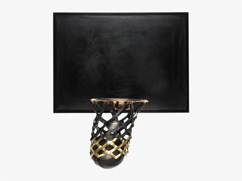 Gold Basketball Backboard1 - Black Mini Basketball Hoop, transparent png #776260