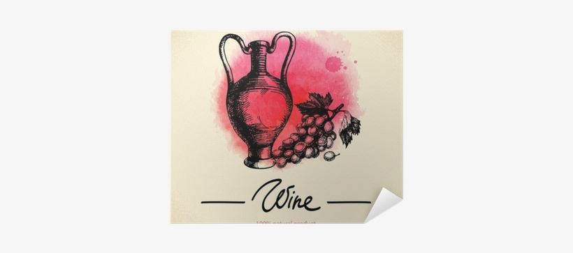 Watercolor Hand Drawn Sketch Poster • Pixers® • We - 12 Pack Wine Glass Tags - The Vinyard Collection -, transparent png #776743