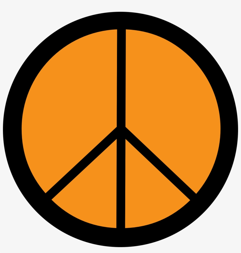 Peace Sign Free Peace Animations Clipart - Peace Sign Line Drawing, transparent png #777478