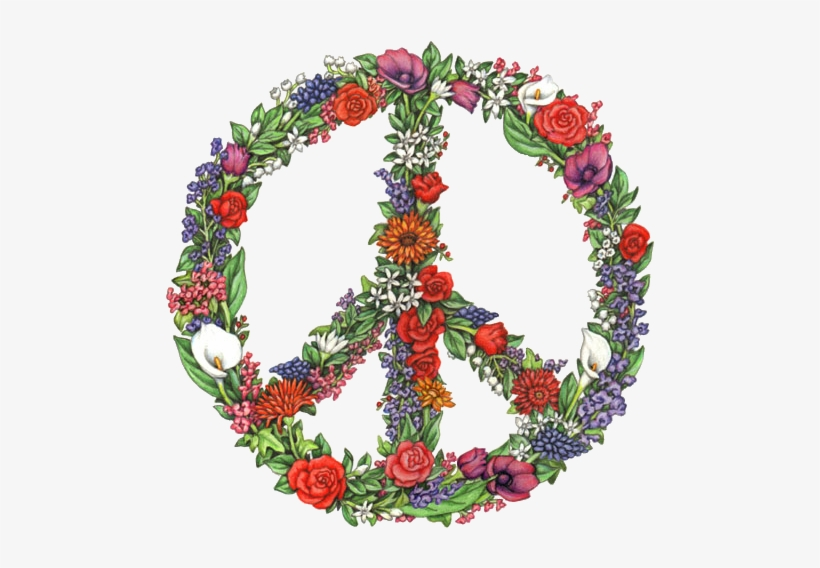Peace Flower -my Edit Peace Sign Tumblr - Flower Peace Sign, transparent png #777693