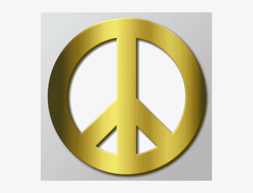 Peace Sign Gold Cool Template Themes On Your Photos - Gold Peace Sign, transparent png #778025