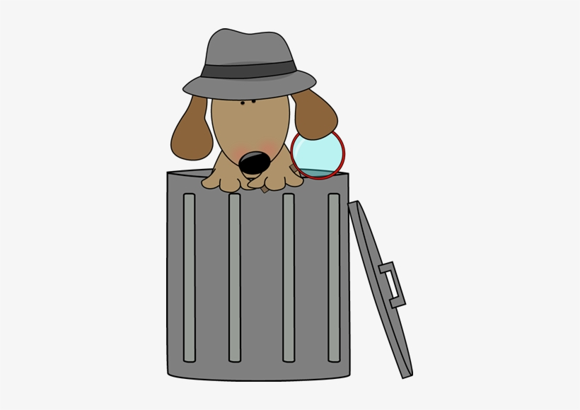 Clip Art Images Looking For Clues In - Dog In A Trash Can, transparent png #778828