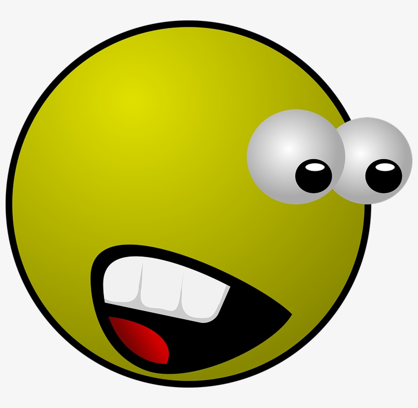 Smiley, Face, Yellow, Emotion, Scared, Surprised - Scared Face Animation, transparent png #779516