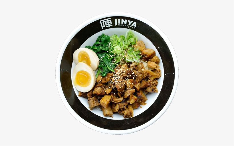 Slow-braised Pork Chashu, Spinach, Green Onion, Seasoned - Boiled Egg, transparent png #779777