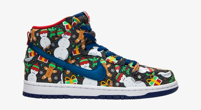 Nike Concepts X Sb Dunk Pro High 'ugly Christmas Sweater' - Nike Sb Ugly Christmas Sweater