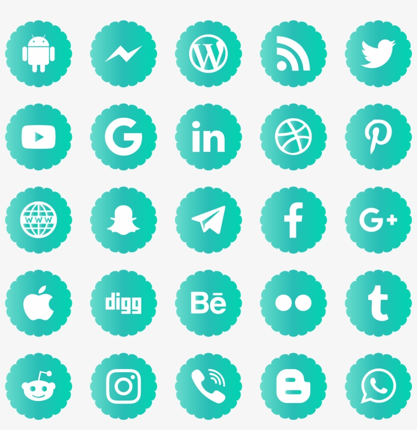 Download Social Media Icons Svg Eps Png Psd Ai Vector - Social Media Red Icon, transparent png #7710142