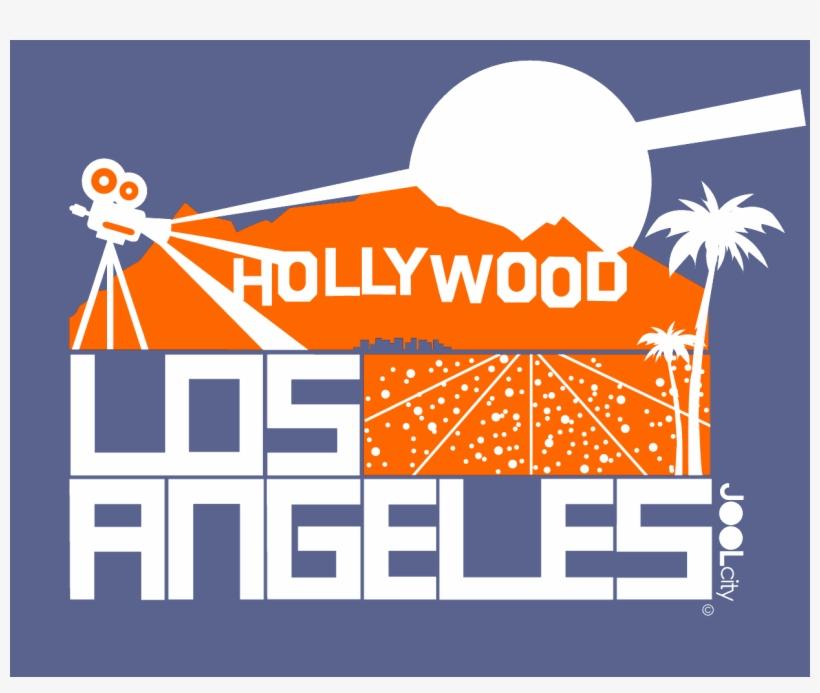 Los Angeles Hollywood Hills Baby Onesie - T-shirt, transparent png #7720344