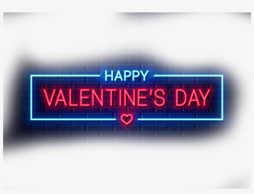 Happy Valentine Day Text Png ➤ Download - Neon Sign - Free