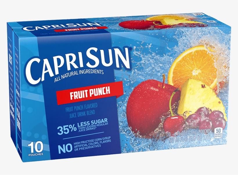 Capri Sun Fruit Punch, transparent png #7725603