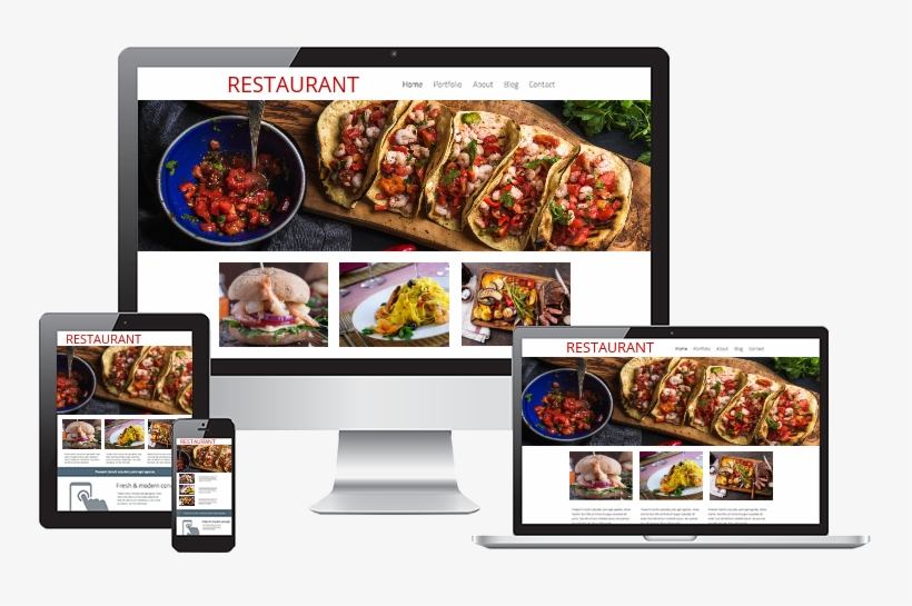 Restaurant Web Design Responsive Web Design - Wordpress Responsive Website, transparent png #7740435