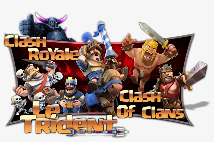Le Trident Est Une Communauté De Joueurs Actifs Et - Logo Clash Royale Et Clash Of Clan, transparent png #7743815