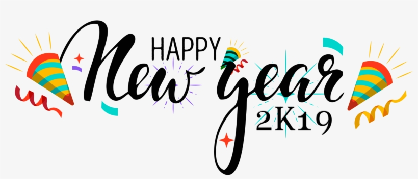 Happy New Year Logo Vector Free Download - Happy New Year Logo 2019, transparent png #7746494