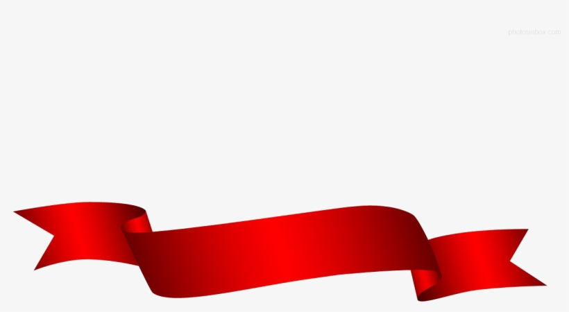 Red Ribbon Png Transparent Picture - Red Christmas Ribbon Banner, transparent png #7747955