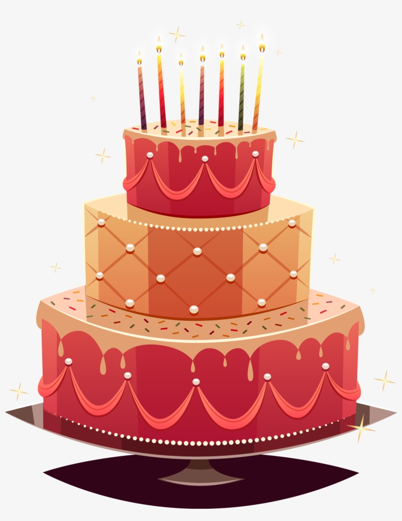 Birthday Cake Wedding Cake Happy Birthday To You - Birthday Cake Happy Birthday Vector, transparent png #7749184