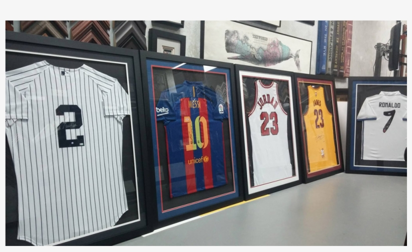 Sports Jersey & Collectibles Frame Gallery - Signed Jordan Jersey Frame, transparent png #7756253