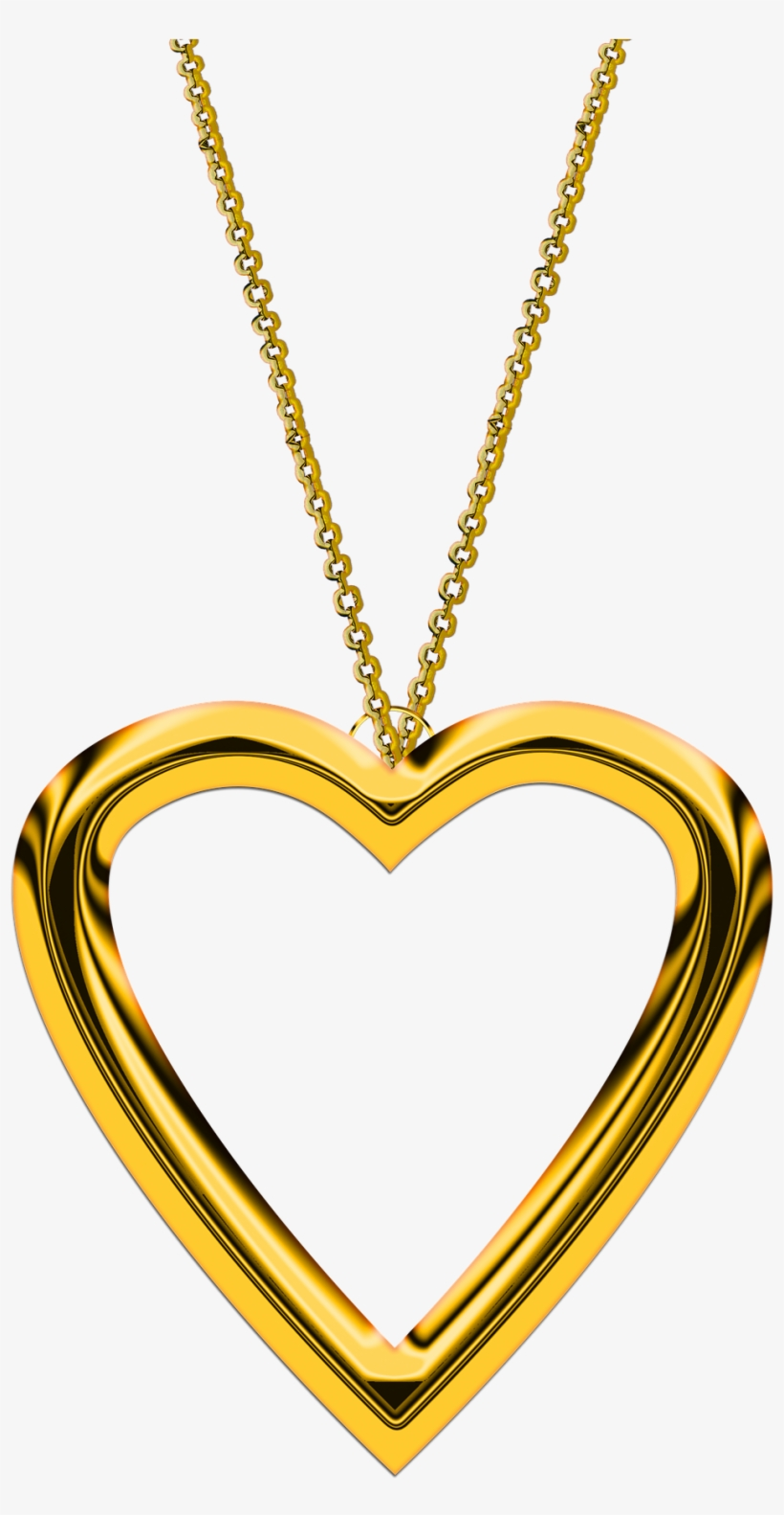 Second Hand Collections Of Gold Jewellery Are The Ideal - Gold Heart Pendant Png, transparent png #7756848