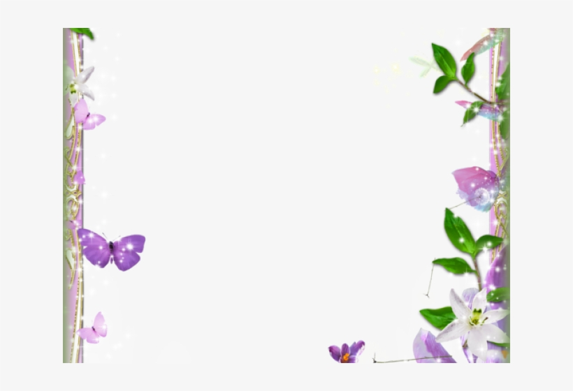Page Border Designs Flowers - Page Border Designs For Projects, transparent png #7756904
