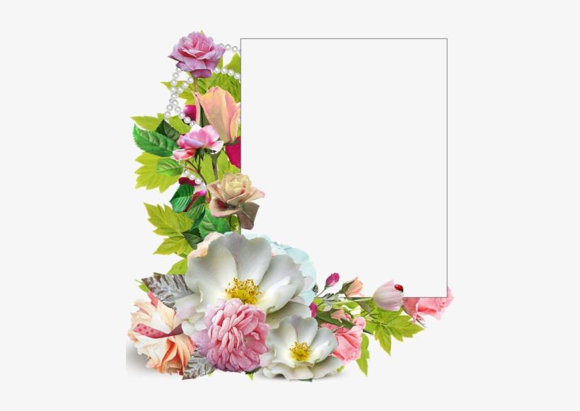 Contemporary Flower Photo Frames New Cadres Frame Rahmen - Cadres Frame Rahmen Quadro Flowers Png, transparent png #7757276