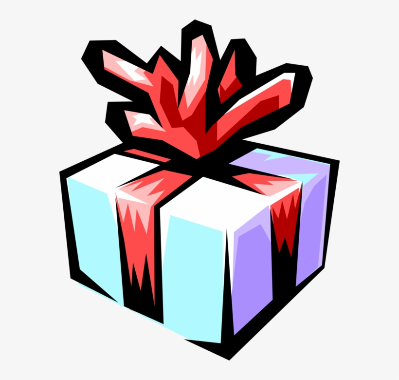Vector Illustration Of Birthday Gift With Red Ribbon Free Transparent Png Download Pngkey
