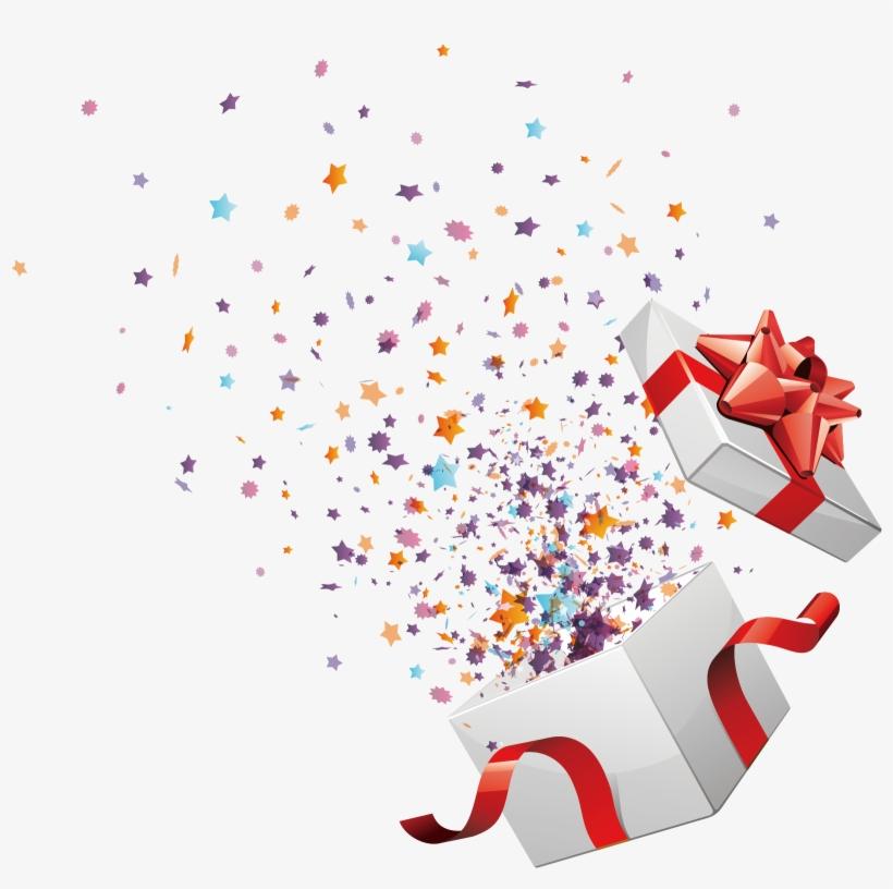 Box Gift Birthday Courtesy Vector Open Christmas Clipart ...
