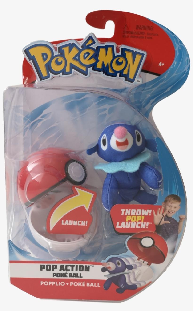 Pokemon Pop Action Poke Ball Plush - Pokemon Pop Action Pokeball Pikachu, transparent png #7759494