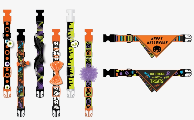 I Designed These Halloween Collars For Petsmart - Graphic Design, transparent png #7764457