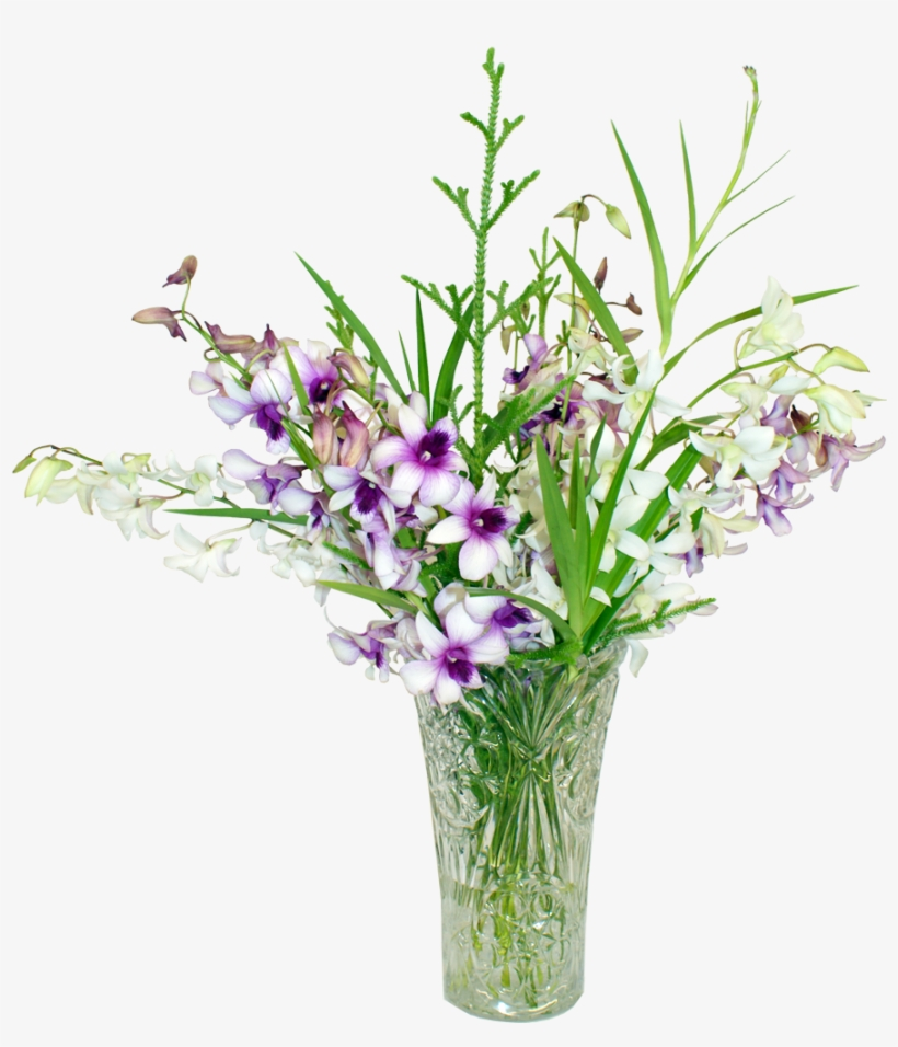 Vector Royalty Free Stock Bouquet Transparent Purple - Tropical Plant Arrangement Png, transparent png #7768769