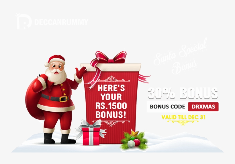 1500 Bonus With Santa Special Bonus Offer - Santa Claus Merry Christmas And Happy New Year, transparent png #7785016