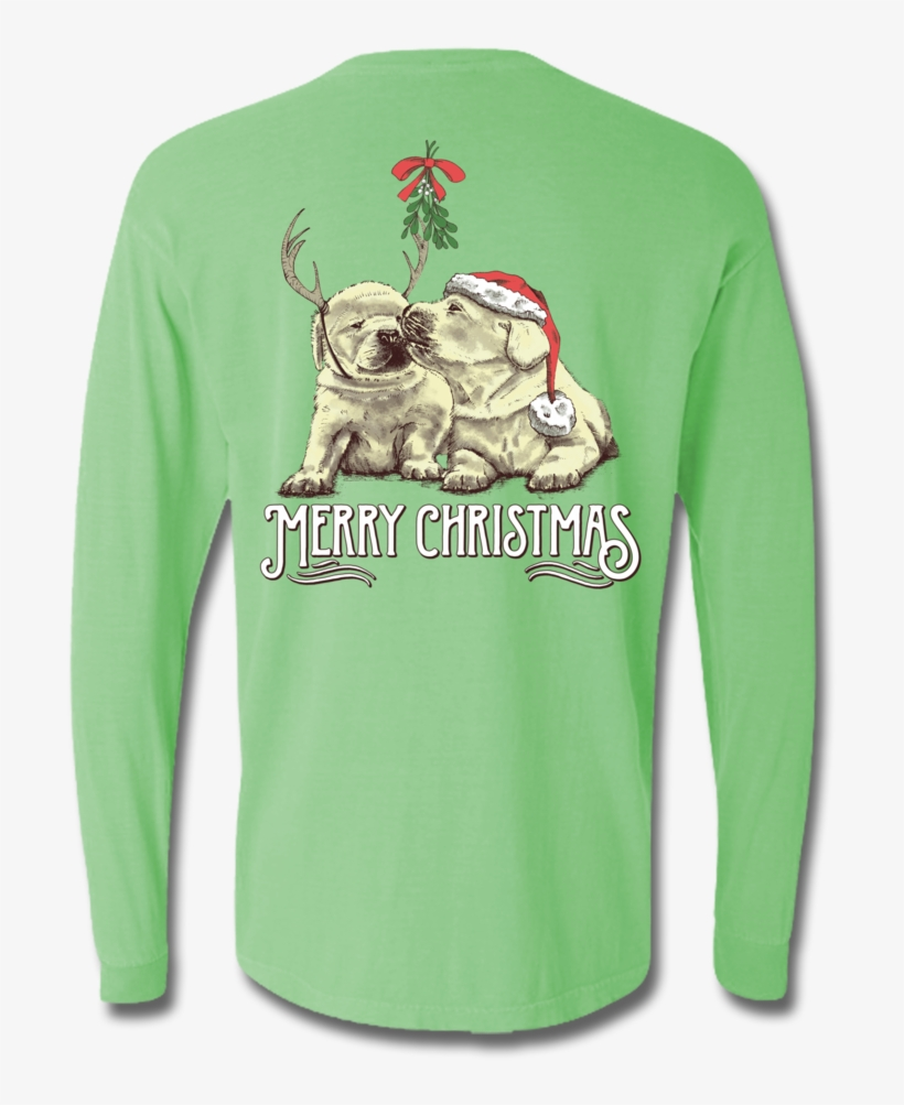 Under The Mistletoe Long Sleeve, T-shirts - Long-sleeved T-shirt, transparent png #7792080