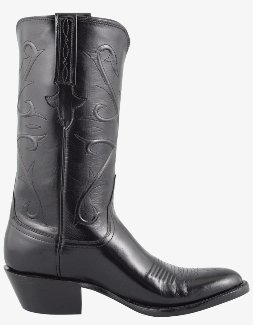 Lucchese Men's Black Kangaroo Boots - Cowboy Boot, transparent png #7793699