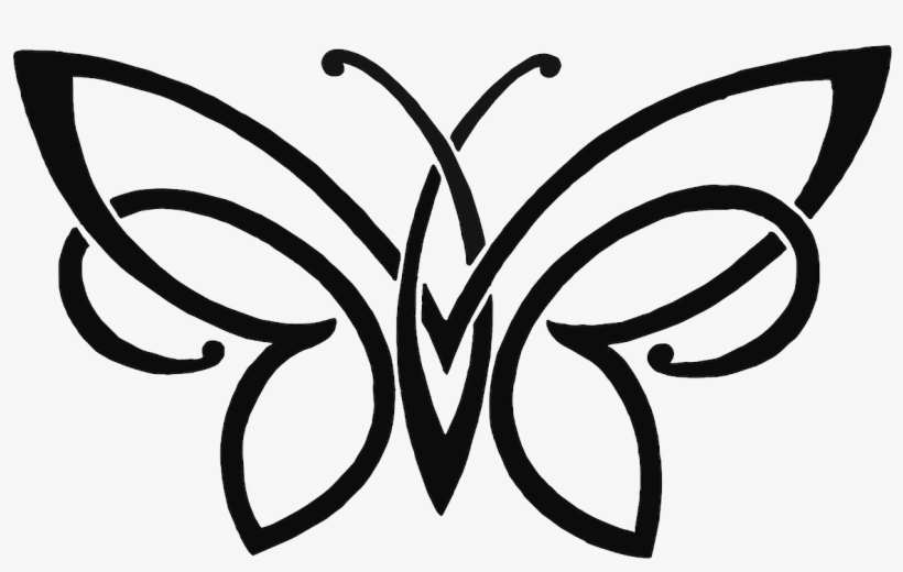 Butterfly Pencil Sketch Drawing Free Png Hq Clipart - Simple Butterfly Pencil Drawing, transparent png #7799619