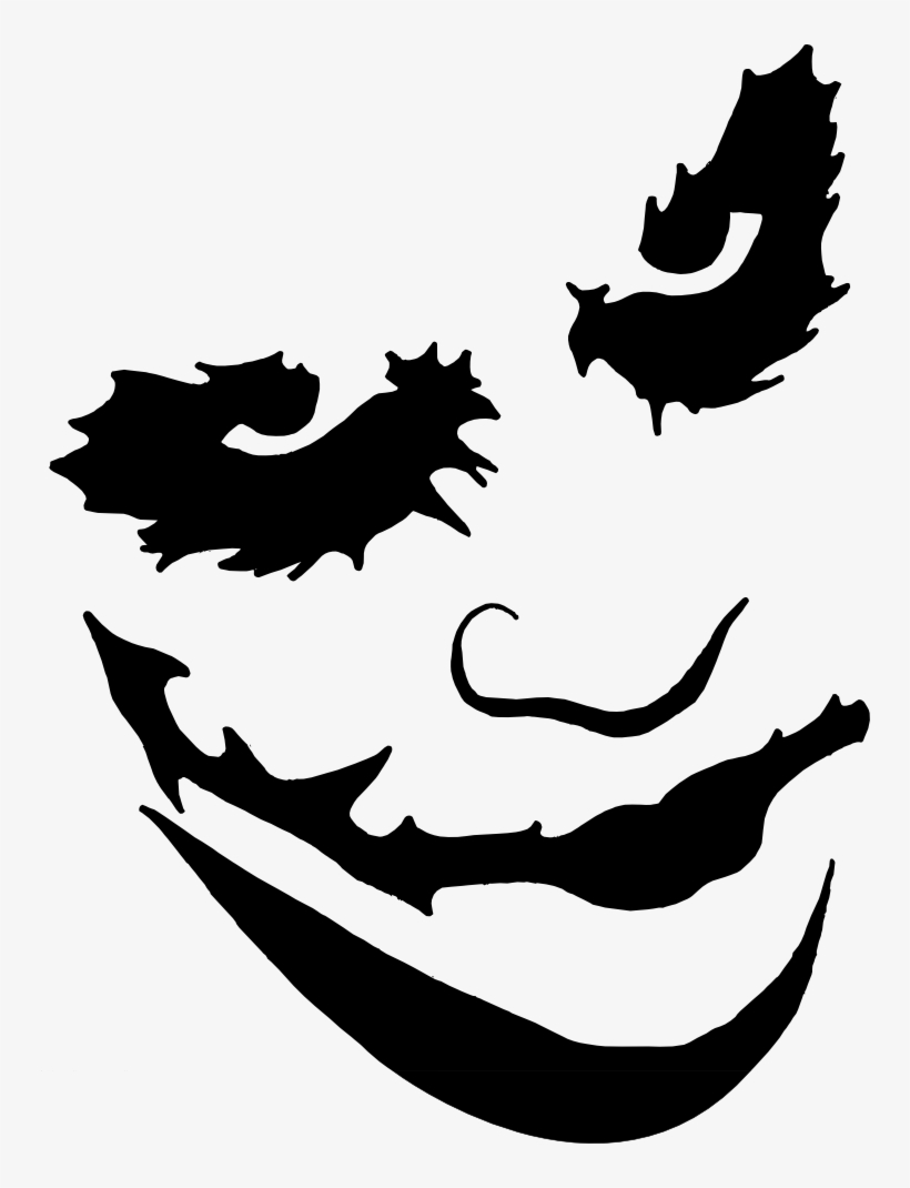 Joker Face Paint Png - Pumpkin Carving Templates Joker, transparent png #780174