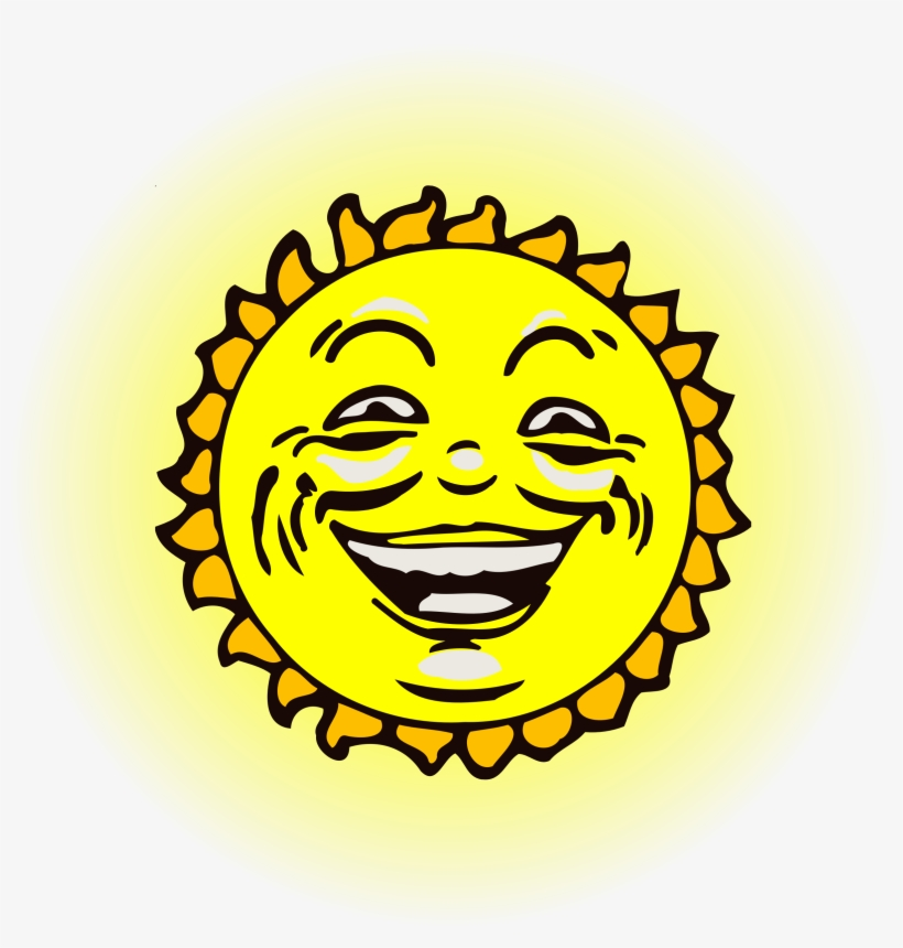 Sun Face 2 Icons Png - Sun With Face On Png, transparent png #780338