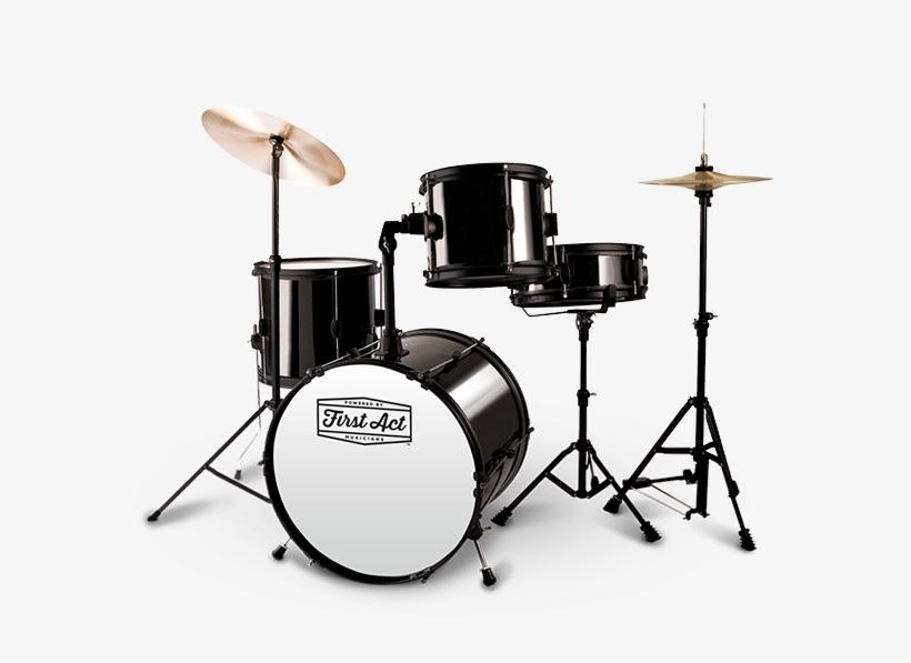 Drum Set - First Act Drum Set Black, transparent png #780750