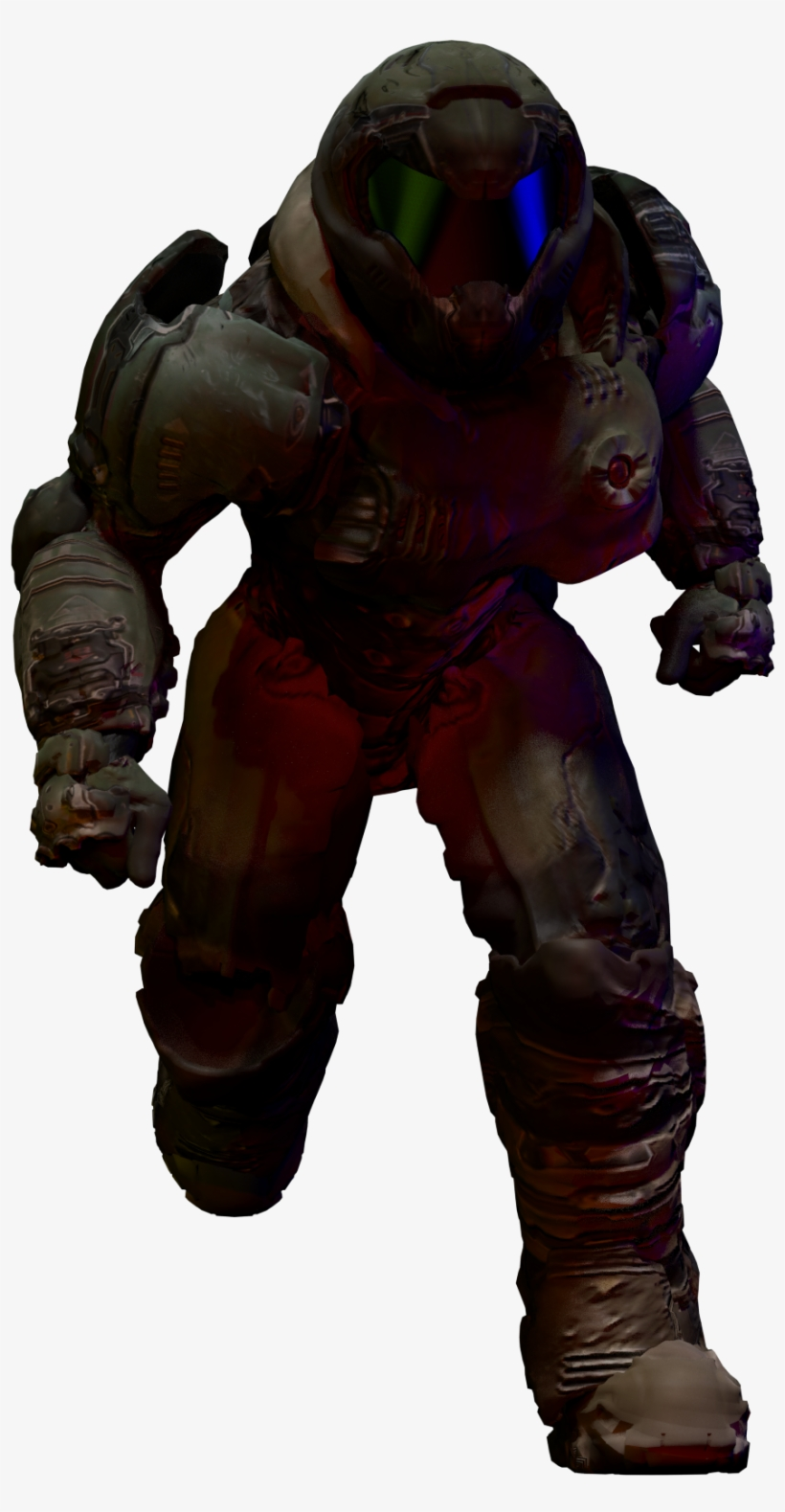 Clipart Free Guy In Blender Cycles - Transparent Doomguy - Free