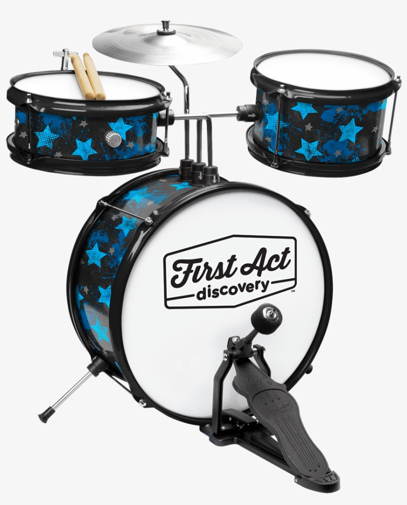 Rock Stars Drum Set - First Act Discovery Drum Set Blue, transparent png #781098