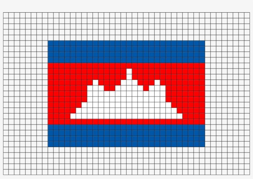Flag Of Cambodia Pixel Art From Brikbook - Minecraft Turkey Flag Pixel Art, transparent png #781170
