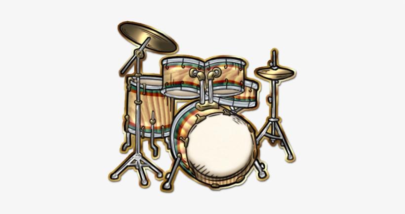 Instrumental-drumset[1] - Drum Set Cartoon Png, transparent png #781421