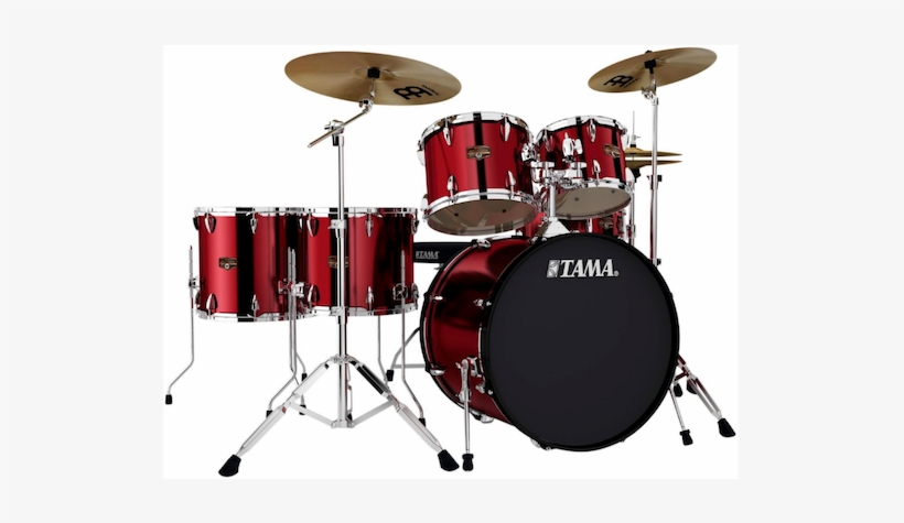 Tama Imperialstar 6-piece Drum Set With Cymbals - Drum Set Tama Imperialstar Red, transparent png #781637