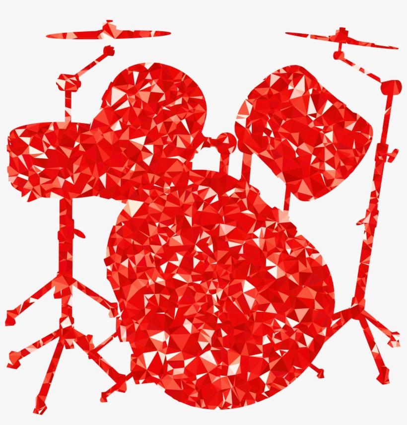 Free - Drum Set Clipart Png, transparent png #781721