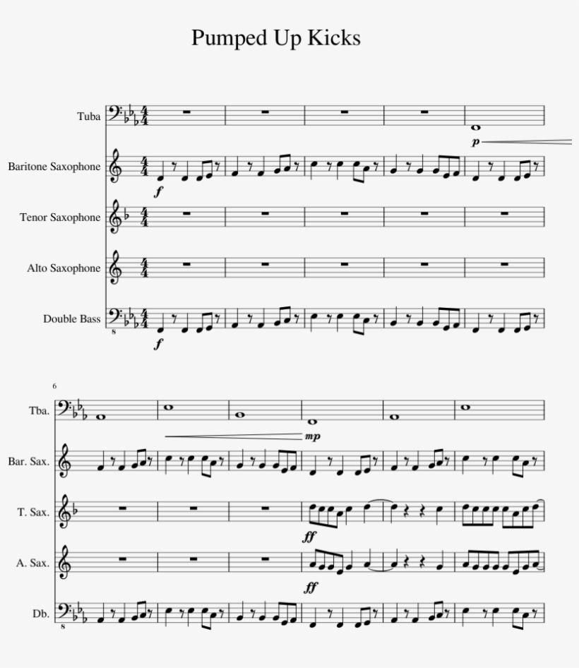 Pumped Up Kicks Sheet Music For Tuba Baritone Saxophone - Under The Sea Steel Drum Sheet Music, transparent png #782683