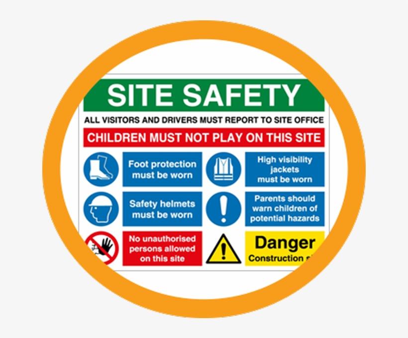 Construction Signs - Multi Message Site Safety Foam Pvc Sign, transparent png #784132