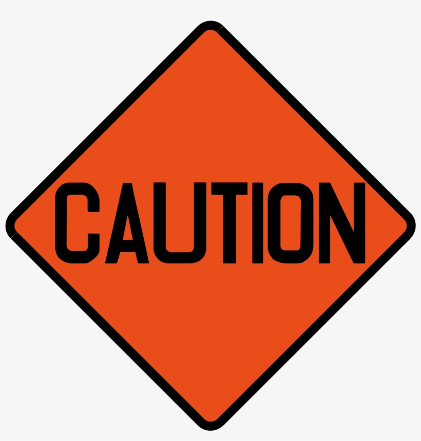 Clipart Freeuse Library File Singapore Signs Temporary - Caution Construction Sign Orange, transparent png #784159