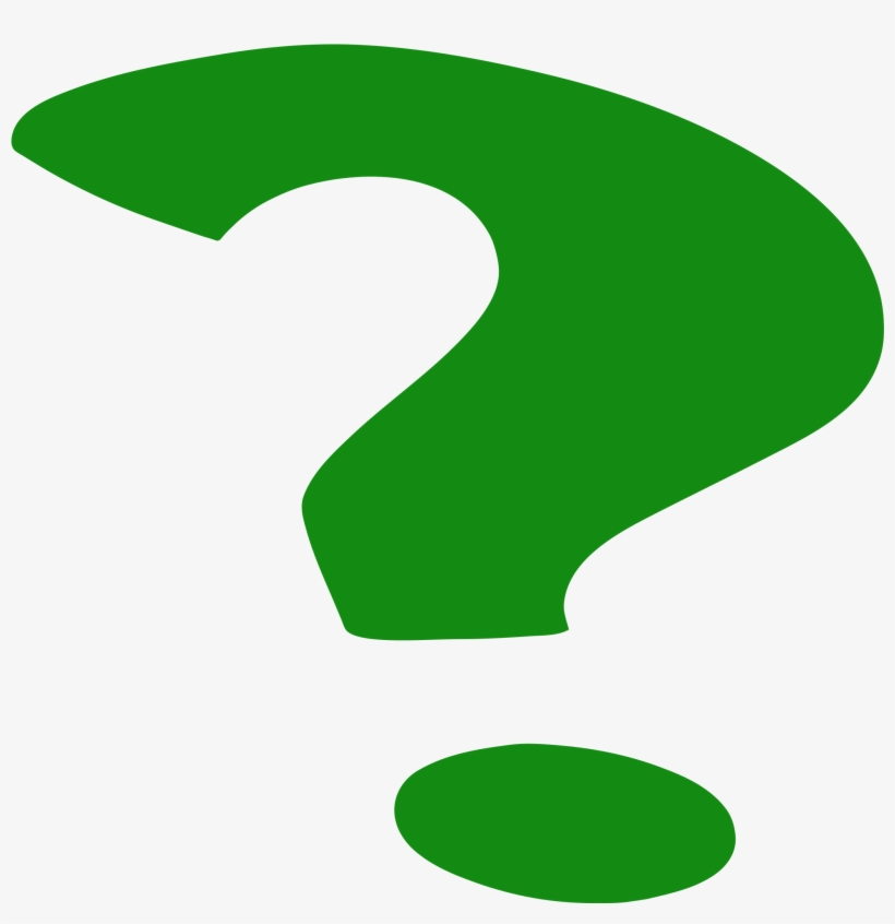 Question Mark Clipart Images Black And White - Green Question Mark Png, transparent png #784767