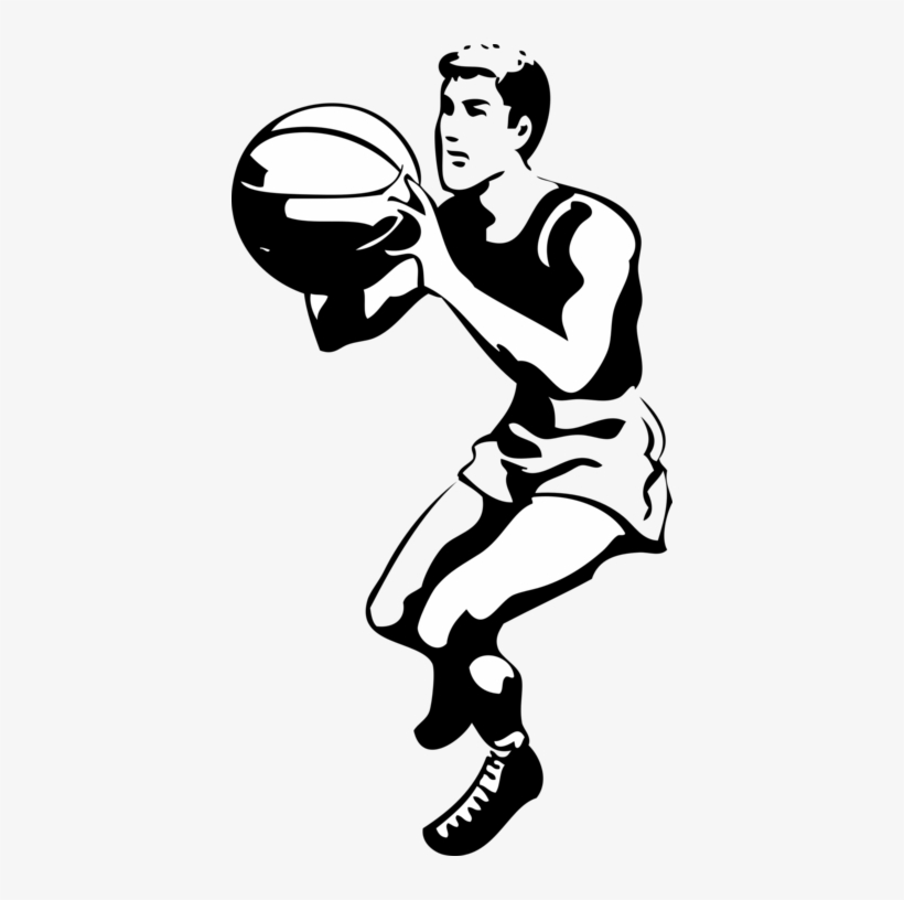 Basketball Clip Art At Clker Com Vector - Basketball Player Black And White, transparent png #785039