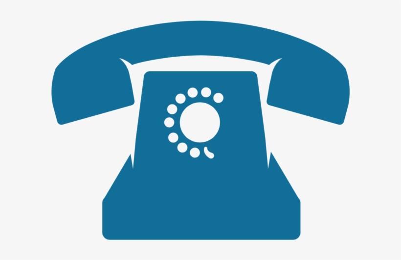 Phone Icon - Old Telephone Icon Blue - Free Transparent