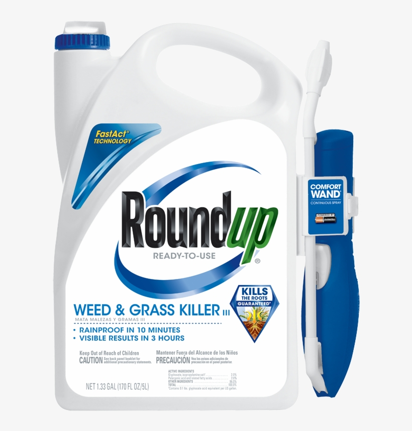 Roundup Ready To Use Weed And Grass Killer Iii With - Roundup Weed And Grass Killer, transparent png #786555